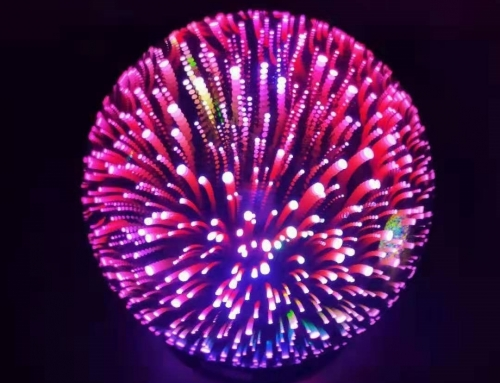 1029 Fireworks Globe Lamp