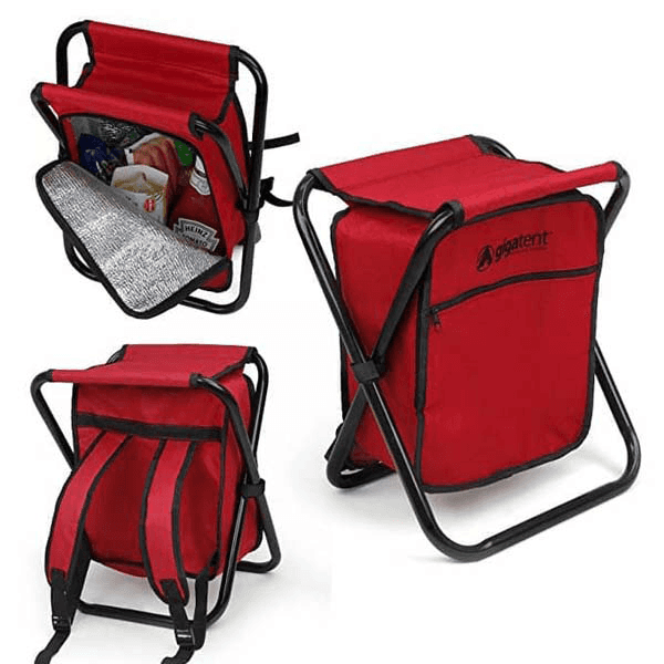 Backpack Folding Chair With Cooler Bag