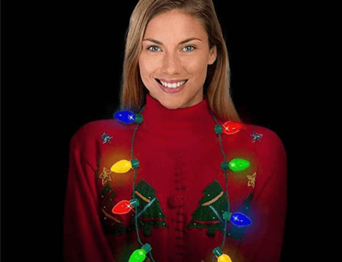 18B040 LED Light Up Holiday Bulb Necklace