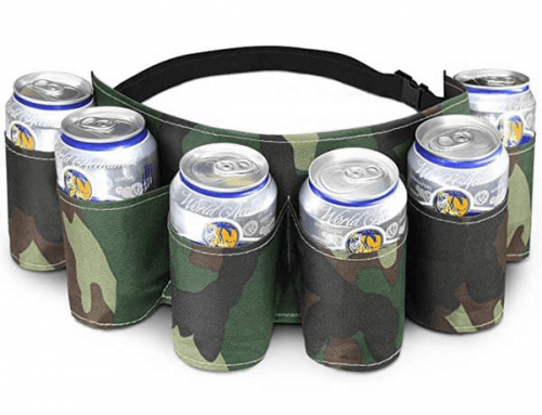 18D001 6 Pack Beer Belt