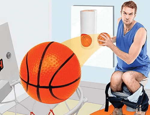 18G040 Bathroom Basketball Game w Floor Mat