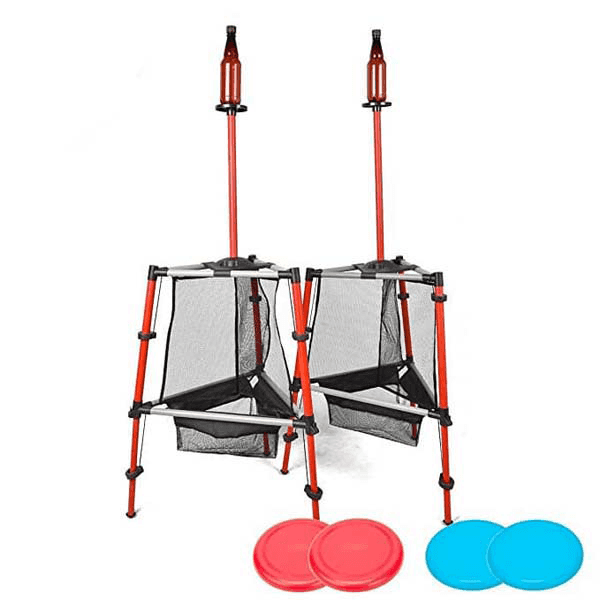 2-in-1 Outdoor Frisbee Game Set Flying Disc-Frisbee Bottle Game,Disc Toss Game Perfect for Kids and Adults,Beach, Lawn, Backyard, Camping, Tailgating and Outdoor Play