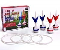 LED Ring Toss-Lawn Darts Game-Glow In The Dark Game Set-Outdoor Family Game for Backyard, Lawn, Beach and More