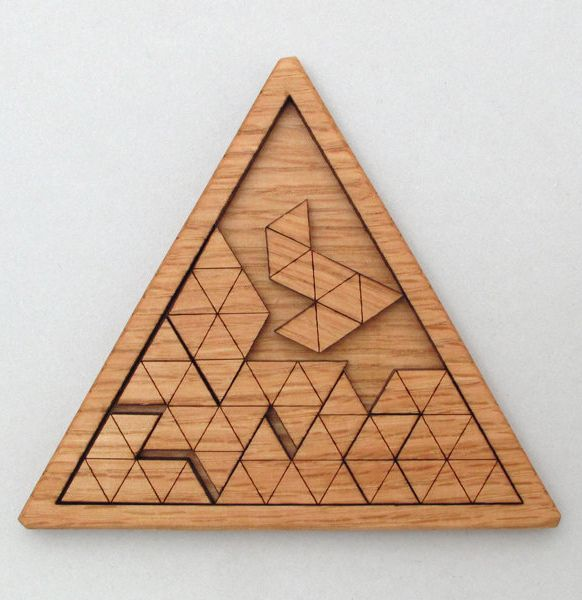 3002 Wooden Triangles Geometric Puzzle